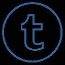 Tumblr Neon Line Icon