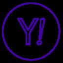 Yahoo Neon Line Icon