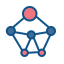 Network Nodes Connection Icon