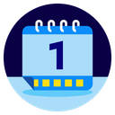 New Year Calendar Celebrate Icon
