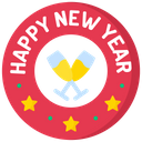 Newyear Badge Icon
