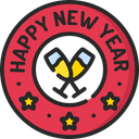 Newyear Badge Christmas Offer Offer Badge Icon
