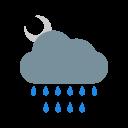 Night Rain Cloud Icon