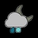 Night Rainy Snowball Icon