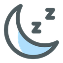 Night Time Moon Night Icon