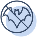 No Eat Bat Icon