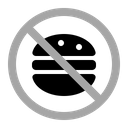 No Food Warning Prohibition Icon