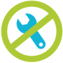 No Maintenance Maintenance Service Icon