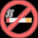 No Smoking Smoking Not Allowed Stop Smoking Icon