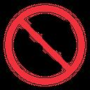 No Snorkel Mask Warning Error Icon