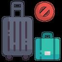 Travel Warning Bag Travel Icon
