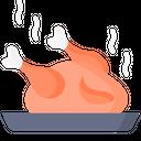 Non Veg Food Chicken Roasted Chicken Icon