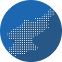 North Korea Map Icon