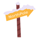 North Pole Signpost Icon