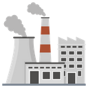 Nuclear Plant Industry Factory Icon