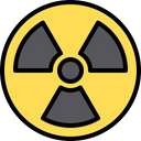 Nuclear Nuclear Sign Radiation Sign Icon