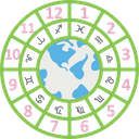 Astrology Circular Chart Horoscope Icon