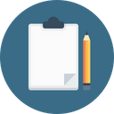Office Letterpad Pencil Icon