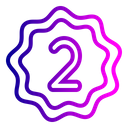 Office Rank Second Icon