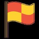 Artboard Football Offside Flag Offside Flag Icon