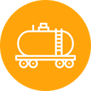 Oil Truck Delivery Icon