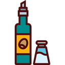 Olive Oil and Salt Shaker Icon