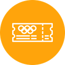 Olympic Entry Ticket Icon
