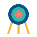 Olympic Game Archery Icon