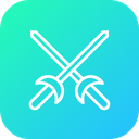 Olympics Game Fencing Icon