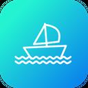 Olympics Game Sailing Icon