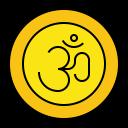 Om Hindu Religion Icon