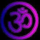 Om Sticker Rangoli Icon