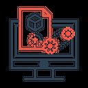 Online 3 D Generation Icon