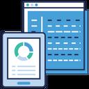 Online Analytics Data Analytics Statistics Icon