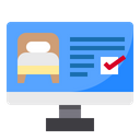Monitor Screen Bed Icon