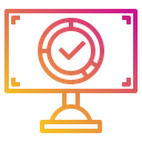 Monitor Success Research Icon