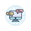 Computer Pc Chat Icon