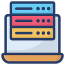 Online Data Server Sql Digital Database Icon