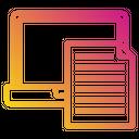 Laptop File Paper Icon