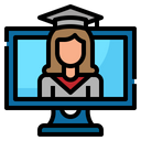 Graduate Online Learning Icon