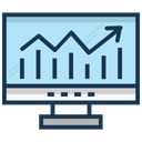 Online Graph Online Infographics Bar Chart Icon