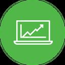 Online Marketing Growth Icon