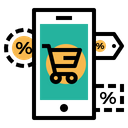 Online Mobile Store Icon
