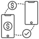 Online Money Send Online Money Transfer Mobile Banking Icon