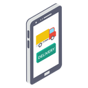 Online Order Order Booking Mobile Cargo Icon