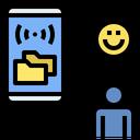 Online Sharing Online Document Cloud Storage Icon