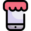 Online Shopping Smartphone Commerce And Shopping Icon