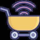 Trolley E Commerce Wifi Icon