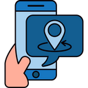 Online Shopping Location Ecommerce Icon