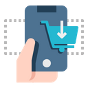 Hand Phone Shopping Commerce Icon